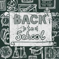 Volta ao cartaz de lousa de escola