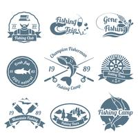Conjunto de etiquetas de pesca vetor