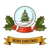 Ícone de globo de neve de Natal vetor
