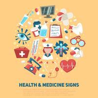 Conceito de sinais de saúde e médicos