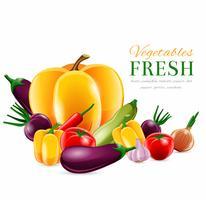 Cartaz de grupo de legumes vetor