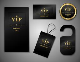 Modelo de design de cartões VIP