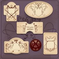 Conjunto de emblemas heráldicos vetor