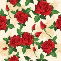 Padrão sem emenda de rosas vetor