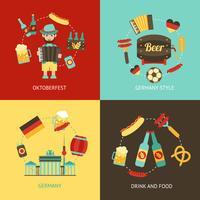 Conjunto de plano de viagem Alemanha vetor