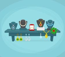 Conceito de exibição de jóias vetor