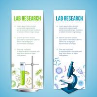 Banners de bactérias e vírus vetor