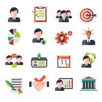 Ícones de gestão de negócios