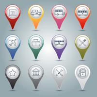 Conjunto de marcadores de GPS