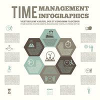 Cartaz de infografic de gerenciamento de tempo