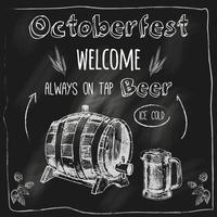 Torne o cartaz de quadro-negro de design de cerveja vetor