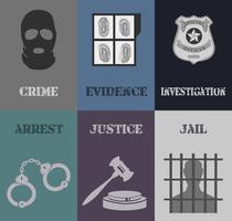 Mini cartazes da polícia vetor