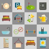 Conjunto de ícones do hotel