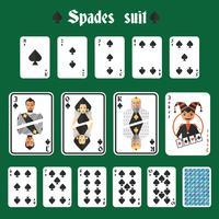 Conjunto de pás de cartas de jogar