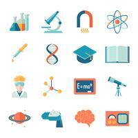 Ciência e pesquisa ícone plana