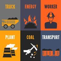 Mini cartazes da indústria de carvão