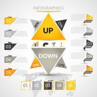 Elementos de infográfico de origami