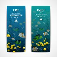 Banners verticais de mergulho