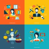 Ícones planas de avatares