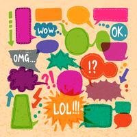 Conjunto de ícones de discurso de bolha