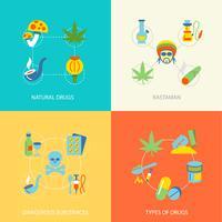 Conjunto plana de drogas