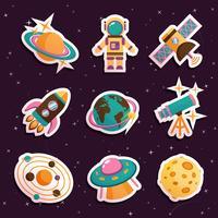 Conjunto de adesivos de espaço