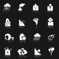 Ícones de desastres naturais