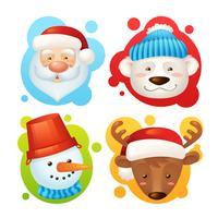 Conjunto de caracteres de Natal vetor