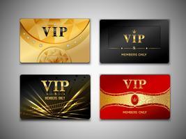 Conjunto de design de pequenos cartões vip