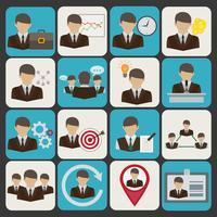Ícones de negócios e gestão