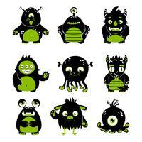 Conjunto de monstros fofo