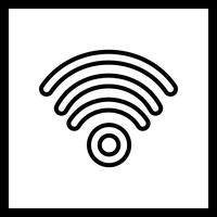 Ícone de vetor de Wi-Fi