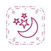 Lua e estrelas ícone Vector