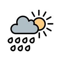 Ícone de vetor de chuva de verão