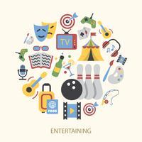 Conjunto de ícones de entretenimentos vetor