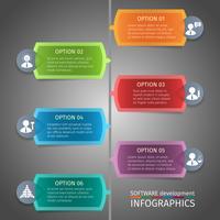 Design de infográficos SEO vetor