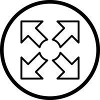 Ícone de vetor em tela cheia