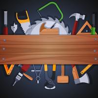 Fundo de ferramentas de carpintaria