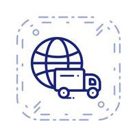 Ícone de entrega global de vetor