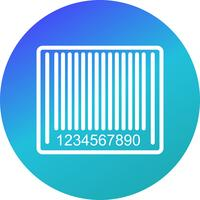 Ícone de código de barras do vetor