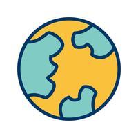 Ícone de vetor de globo