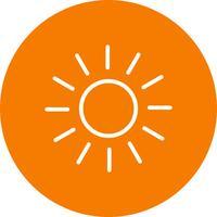 Sol, vetorial, ícone vetor