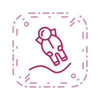 Astronout Landing Vector ícone