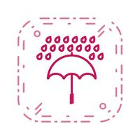 Guarda-chuva e chuva Vector Icon