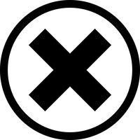Cancelar ícone de vetor