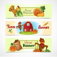Conjunto de bandeiras de fazenda