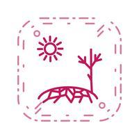 Ícone de vetor de seca