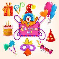 Celebração conjunto colorido