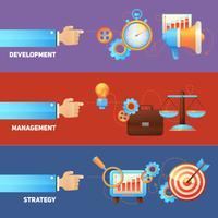 Banners de conceito de design de SEO
