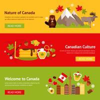 Conjunto de banner do Canadá vetor